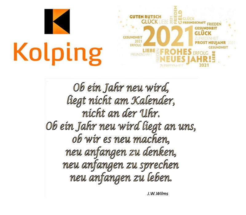 Neujahrswünsche der Kolpingsfamilie Kaiserslautern Zentral