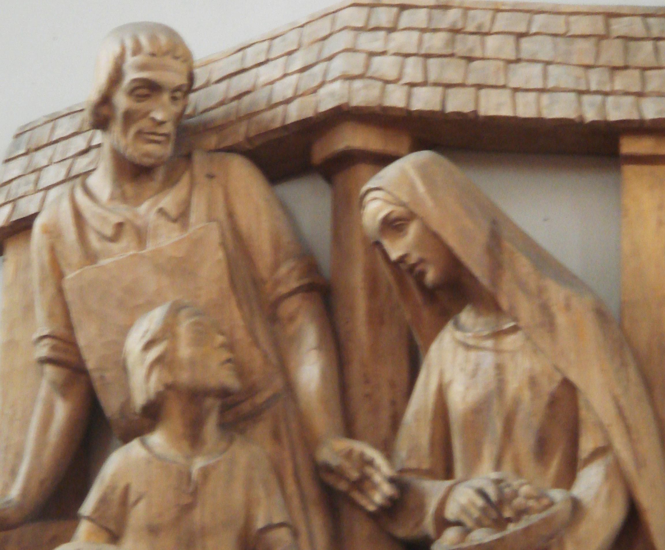 Holzrelief Joseph Jesus Maria - St. Maria Kaiserslautern